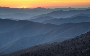 Blue-Ridge-Mountain-at-Sunset