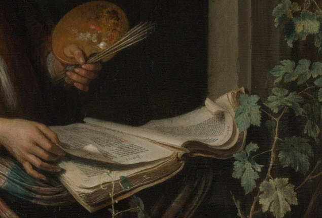 Detail from a self portrait, Gerrit Dou
