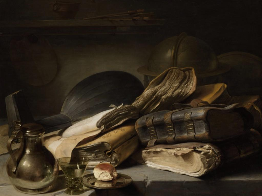Still Life with Books, Jan Lievens