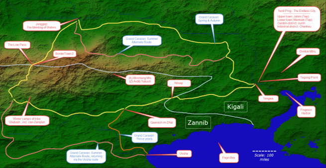 The Route of the Grand Caravan & Yenit Ping