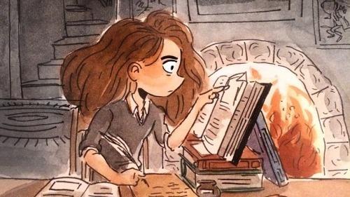 Image of girl studying