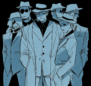 Image of White Suit manga villains