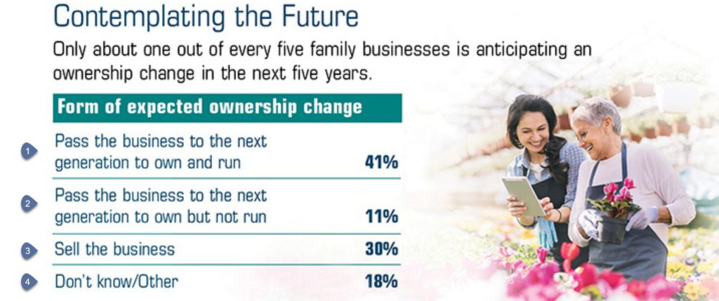 Survey of family business succession plans
